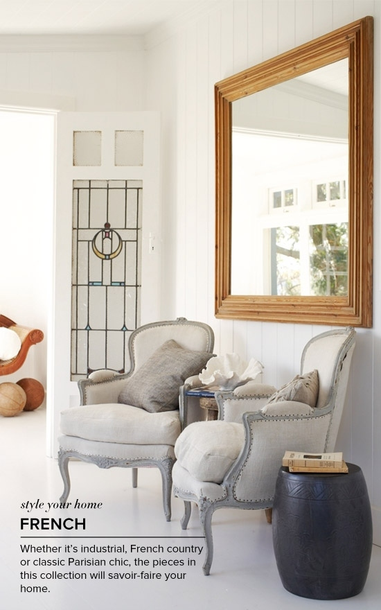 French: Whether its industrial, French country or classic Parisian-chic, pieces in this collection will  savoir-faire your home.