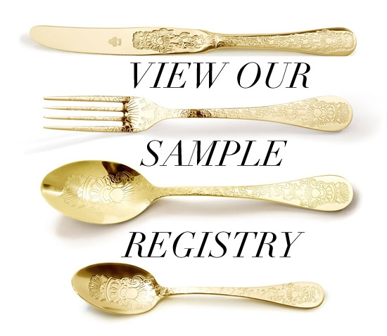 View our sample wedding gift registry